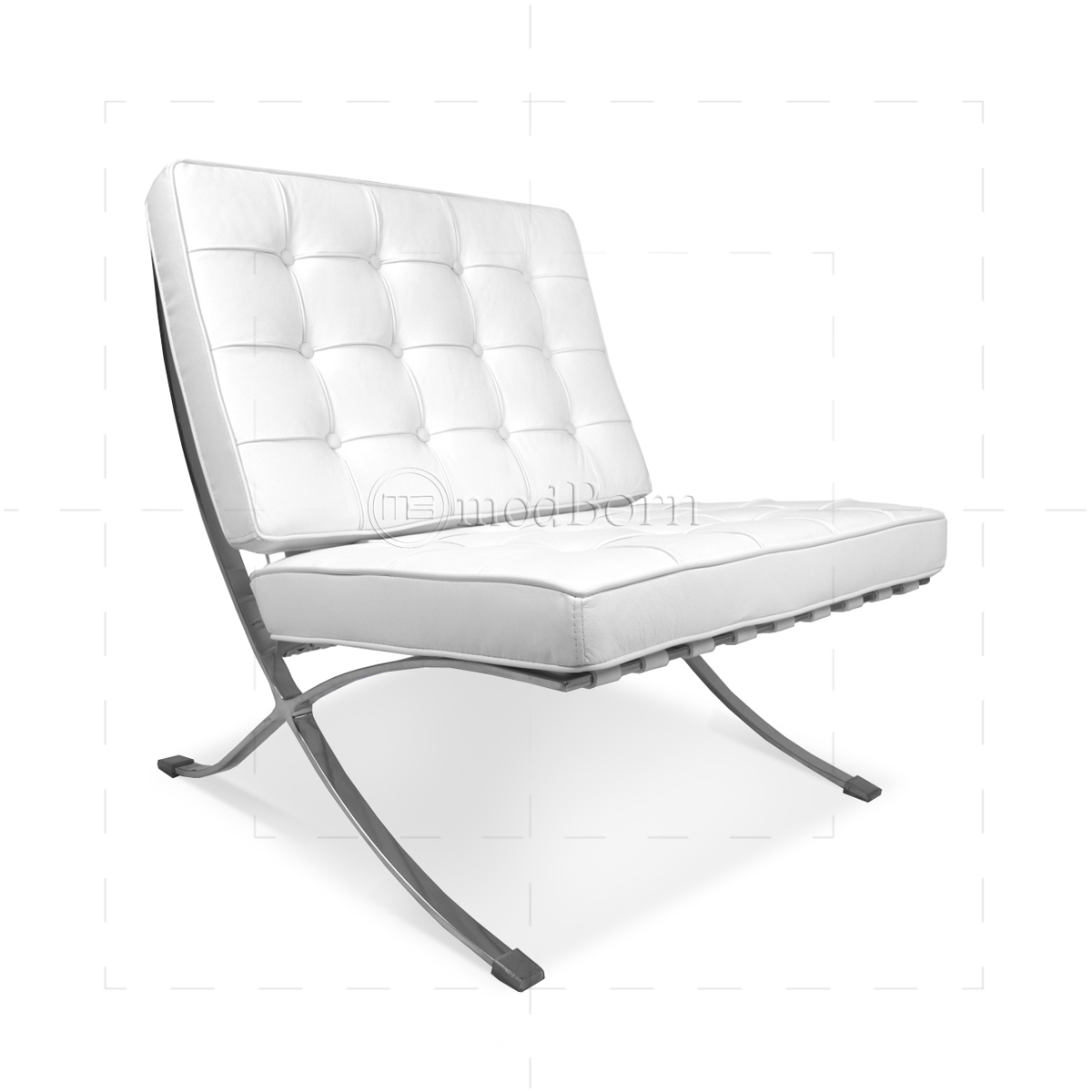 ludwig mies van der rohe barcelona style chair white barcelona chair is known as u0027chair of kingsu0027